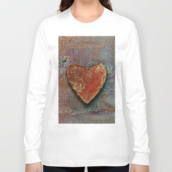 Rusty grunge love heart Long Sleeve T-shirt
