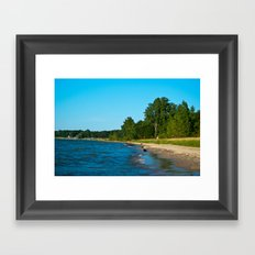 Day at the lake Framed Art Print