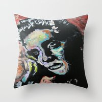 elvis Throw Pillows featuring Elvis by Matt Pecson