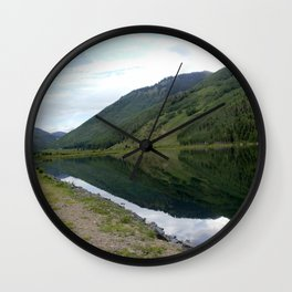 Symmetry and Serenity on Crystal Lake Wall Clock
