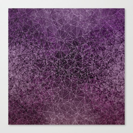 Mesh polygonal purple and pink Canvas Print