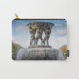 Cities Norway Fountains Fountain in The Vigeland Park Oslo Sculptures Water splash Carry-All Pouch
