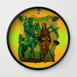 A Mantis and a Prayer - The Stalking Robot Mantid and The Shepherd Wall Clock