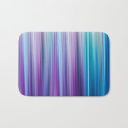 Abstract Purple and Teal Gradient Stripes Pattern Bath Mat