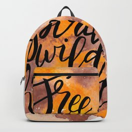 Free Spirit, Wild Heart Watercolour Backpack