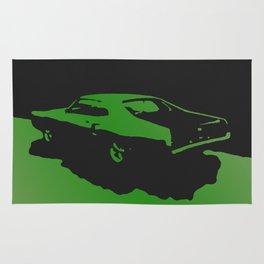 Mercury Marauder, Green on Black Rug