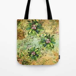 Green Flowers of the Grandmother Garden! Tote Bag