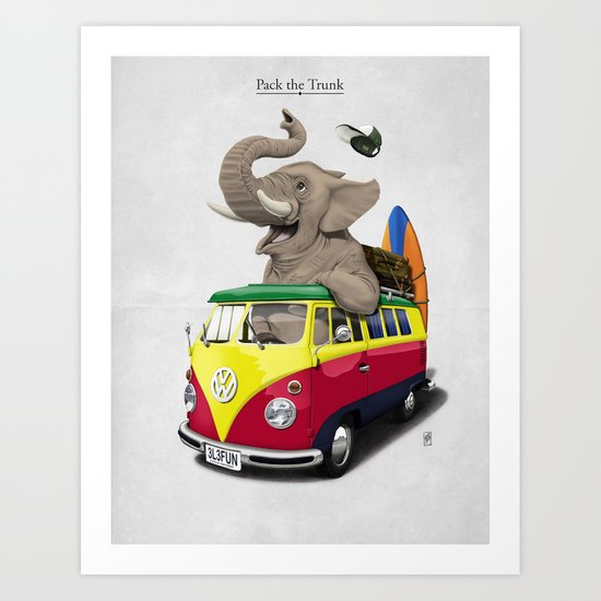 Pack the Trunk Art Print