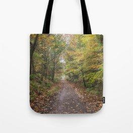 Autumn Cycle Path Tote Bag
