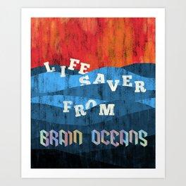 Brain Oceans Art Print