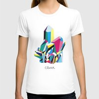 clear T-shirts featuring crystal clear by SUPSY