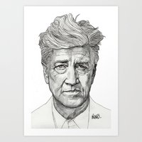david lynch Art Prints featuring David Lynch by Paul Nelson-Esch Art