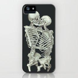 Valentine's Day: Skeleton Kiss iPhone Case