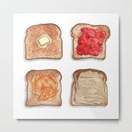 Breakfast & Brunch: Toasts Metal Print