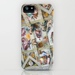 The ceiling of the Sistine Chapel iPhone Case