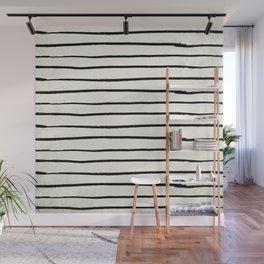 Horizontal Ivory Stripes II Wall Mural