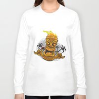 tiki Long Sleeve T-shirts featuring Tiki by Eye Opening Design