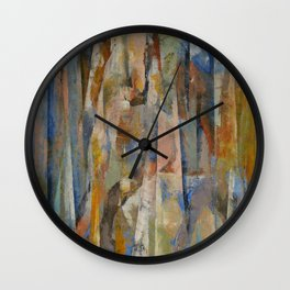 Wild Horses Abstract Wall Clock
