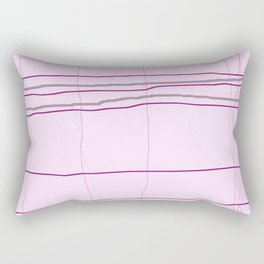 Straight lines with a twist no. 4 Rectangular Pillow