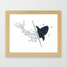 Shark. Geometric style Framed Art Print