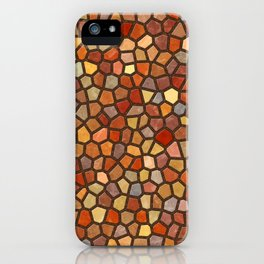 Fall Colors Mosaic Pattern - dark iPhone Case