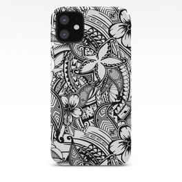 Hawaiian Polynesian Trbal Tatoo Print iPhone Case