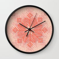 snowflake Wall Clocks featuring Snowflake by Siddika