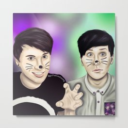 Dan and Phil Metal Print