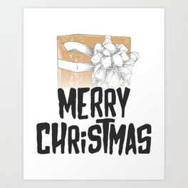 Merry Christmas Gift Idea Art Print