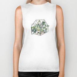 greenhouse with plants Biker Tank