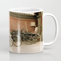 bikes Mugs featuring Bikes, bikes, bikes by Anything et Everything by Nina L.