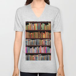 Vintage books ft Jane Austen & more Unisex V-Neck