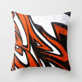White n' Red Throw Pillow