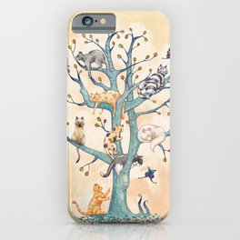 The tree of cat life iPhone Case