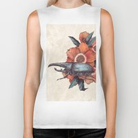 hercules Biker Tanks featuring Hercules Beetle by Angela Rizza
