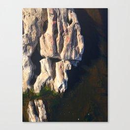 Abstract humanoid rock Canvas Print
