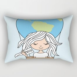 International Day of Democracy - The world has been a better place Rectangular Pillow