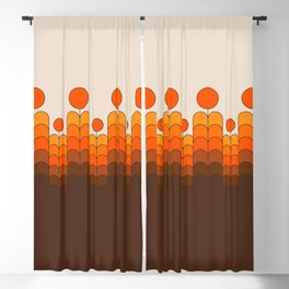Golden Blooms Blackout Curtain