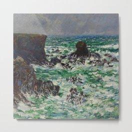 """Claude Monet """"Port Coton: Le Lion"""" Metal Print"""