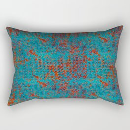 Turquoise with Red Rectangular Pillow