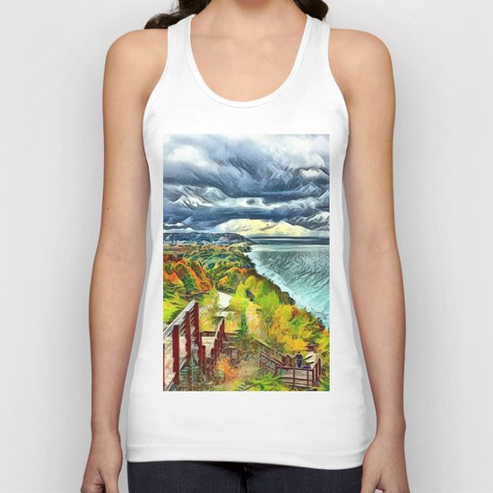 Stairs to Paradise (Water and Landscape) Unisex Tank Top