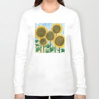 sunflowers Long Sleeve T-shirts featuring Sunflowers by Holly Fisher@SpenceCreative