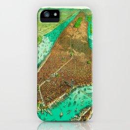 Retro New York Print iPhone Case