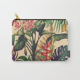 Vintage Tropical Flora (green) Carry-All Pouch