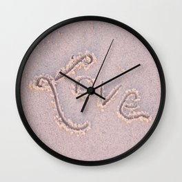 """""""Love"""" in the Sand Wall Clock"""