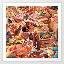 PLEASED TO MEAT YOU Art Print