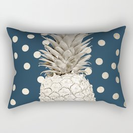 Gold Pineapple Polka Dots 2 Rectangular Pillow