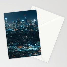 The lights of the night metropolis Stationery Cards