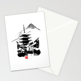 temple in the snow Stationery Cards