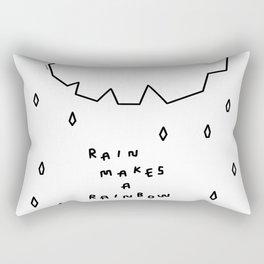 Rain Makes A Rainbow no.6 Rectangular Pillow